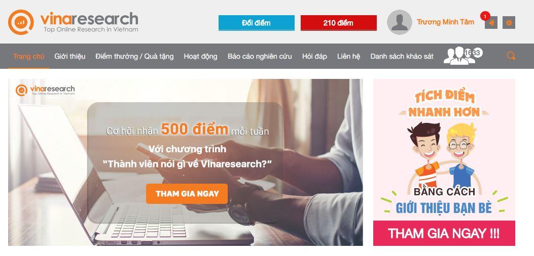 Vinaresearch là trang khảo sát uy tín nhất Việt Nam