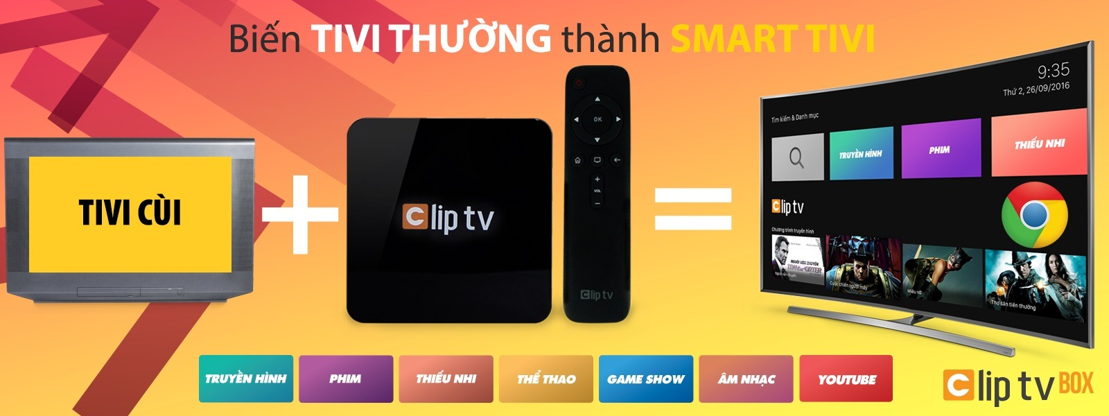 Biến TV thường thành Smart TIVI