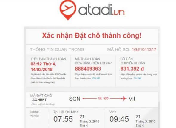 Hướng dẫn đặt vé máy bay tại Atadi 4