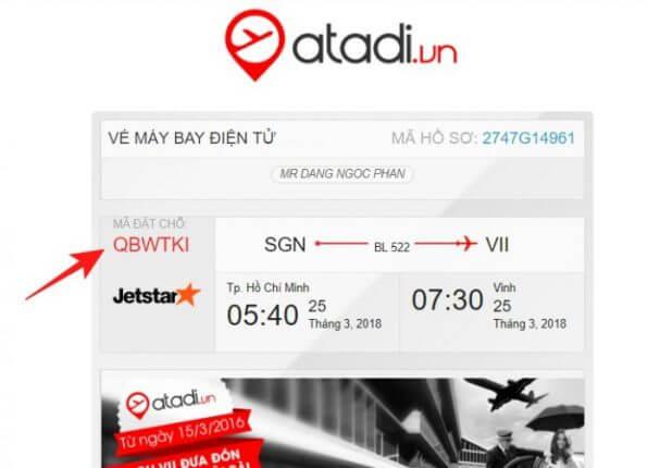 Hướng dẫn đặt vé máy bay tại Atadi 5