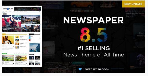 Newspaper là theme rất phổ biến cho trang tin tức, blog, đánh giá