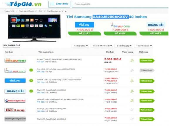 Topgia.vn đề xuất người dùng những cửa hàng uy tín để mua hàng