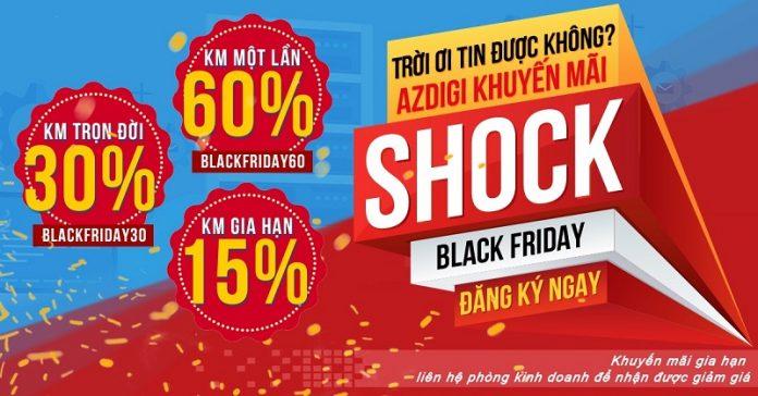 Mã giảm giá AZDIGI Black Friday 2018 – Giảm giá trọn đời 30%, một lần 60%