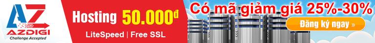 Mã giảm giá AZDIGI 2018, khuyến mãi 30% dịp lễ 30/4 tại AZDIGI
