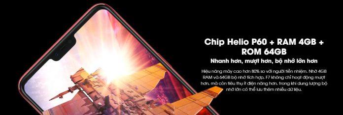 Chip Helio P60 + RAM 4GB + ROM 64GB