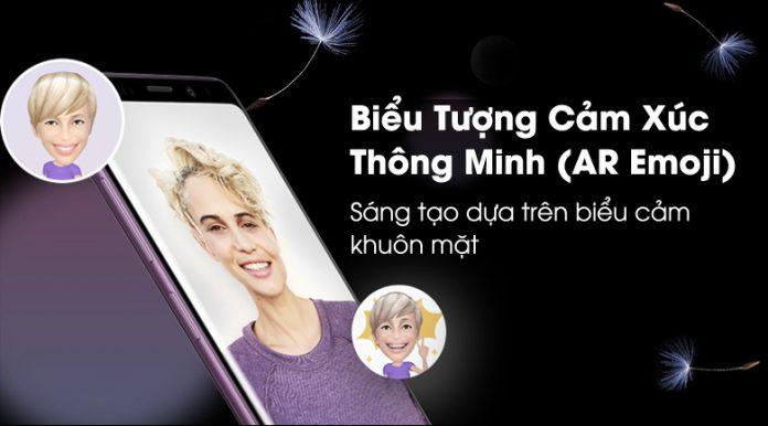 Samsung galaxy S9 Plus biểu tượng thông minh emoji