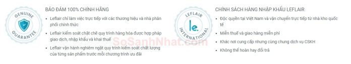 Leflair cam kết hàng chính hãng 100%