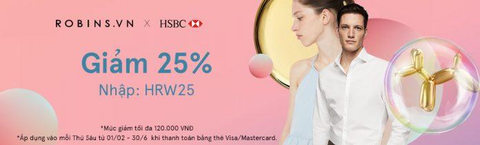 Giảm 25% khi thanh toán bằng thẻ HSBC