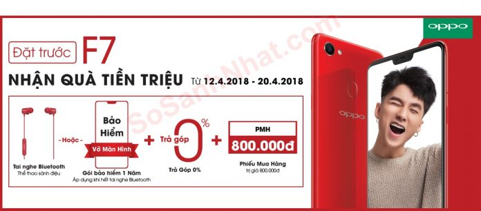 Nơi bán Oppo F7 2018 giá rẻ nhất có tặng tai nghe, voucher 300k-800k