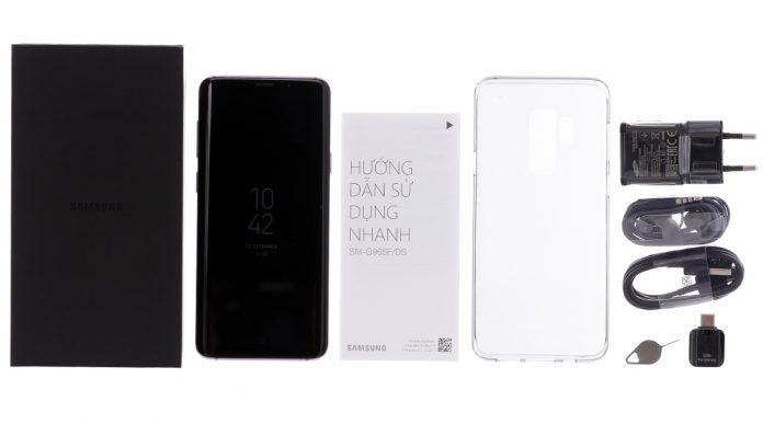 Samsung galaxy S9 Plus bộ đính kèm