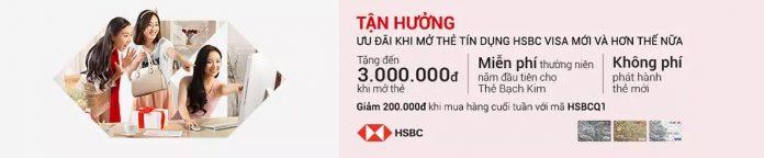 Mở thẻ tín dụng ngân hàng HSBC