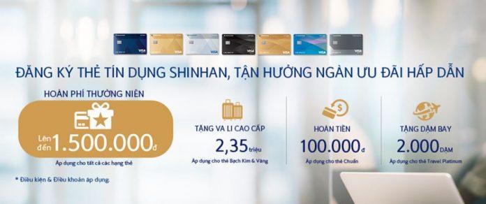 Tặng đến 3,3 triệu đồng cho khách hàng đăng ký mới Thẻ tín dụng Shinhan