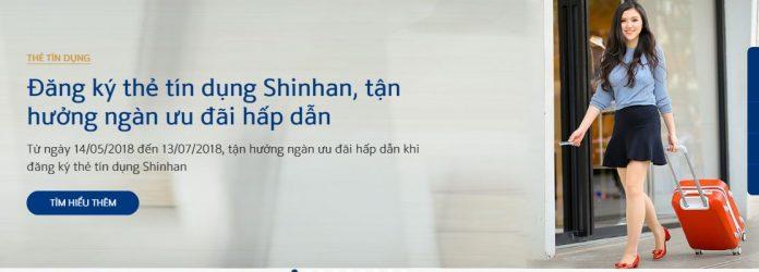 Mở thẻ tín dụngNgân hàng Shinhan tặng Vali 2018