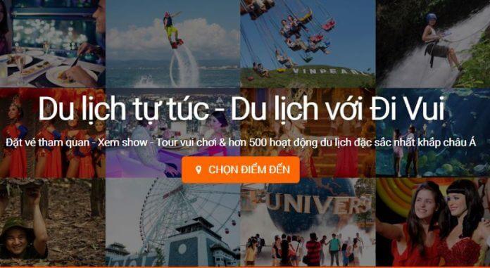 Website mua vé, show du lịch tự túc tốt nhất 2018