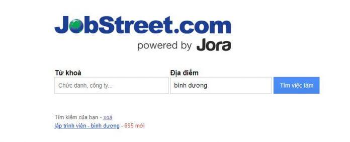 Mạng tìm việc làm jobstreet