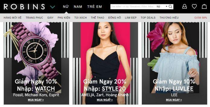 Đánh giá mua sắm thời trang Robins