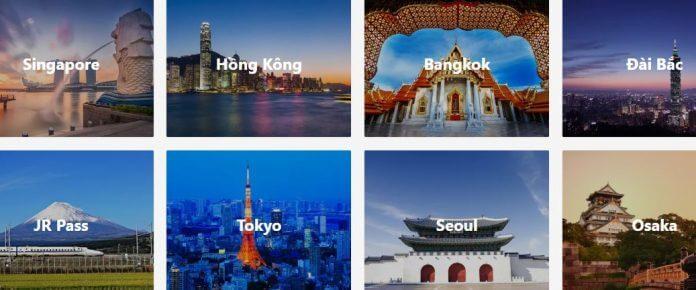 Website mua vé, show, tour du lịch tự túc tốt nhất 2018