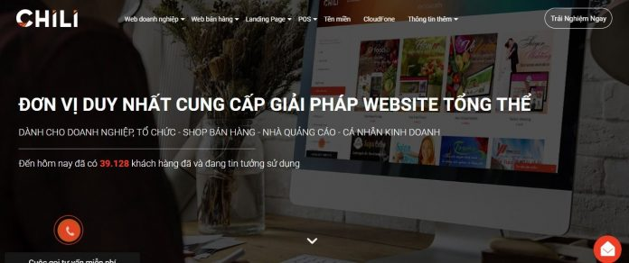 CHILI - Dịch vụ thiết kế web chuyên biệt cho doanh nghiệp và shop bán hàng