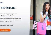 Hướng dẫn mở thẻ tín dụng Shinhan Bank ở TPHCM và Hà Nội 2018