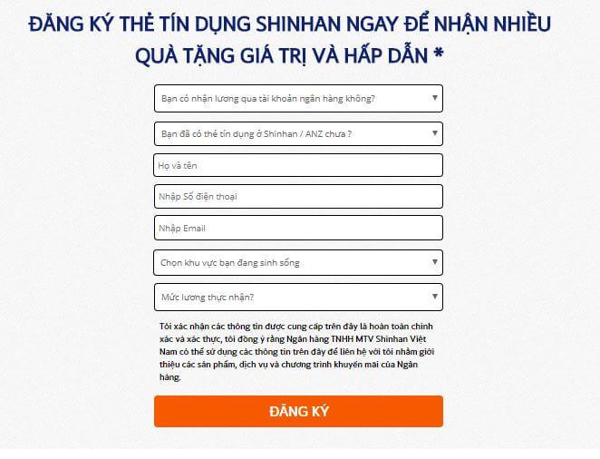 Hướng dẫnmở thẻ tín dụng Shinhan Bank 2018