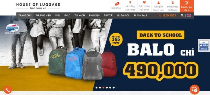 HOL | Phân phối độc quyền vali, balo, túi xách chính hãng