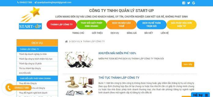 Dịch vụ thành lập công ty Quản Lý Start-Up