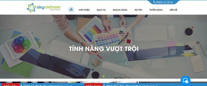 Sky Việt Nam - Công ty Thiết Kế Website chuyên nghiệp, Thiết Kế Web chuẩn SEO Google