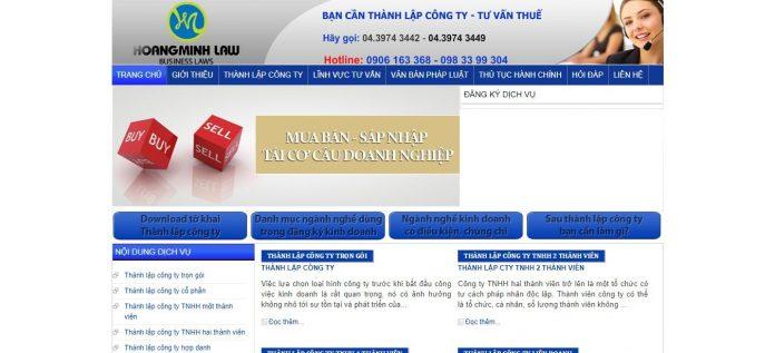 Dịch vụ thành lập công ty Luật Hoàng Minh