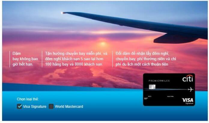 Thẻ Tín Dụng Citibank PremierMiles®
