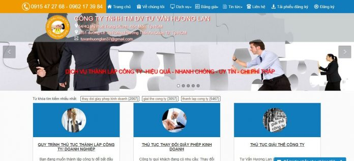Dịch vụ thành lập công ty Hương Lan