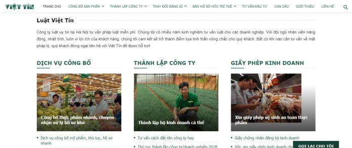 Dịch vụ thành lập công ty Luật Việt Tín