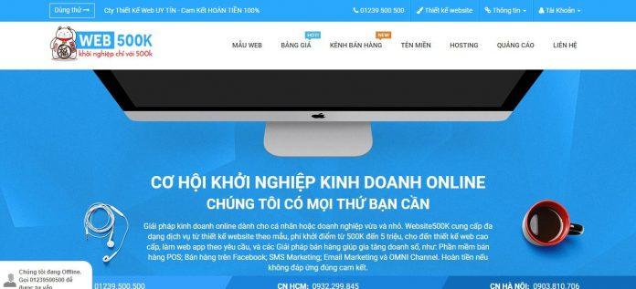Website500k - Thiết kế website chuyên nghiệp giá rẻ
