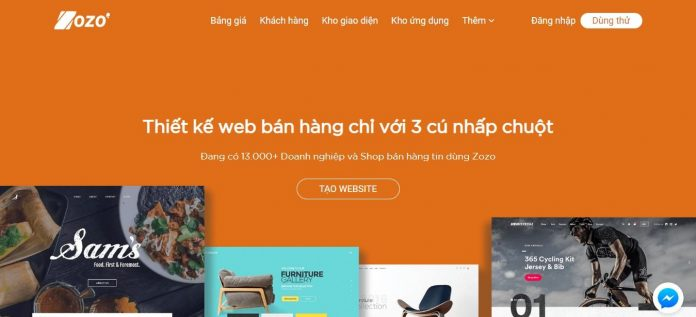 Zozo - Thiết kế website bán hàng, tạo website chuyên nghiệp
