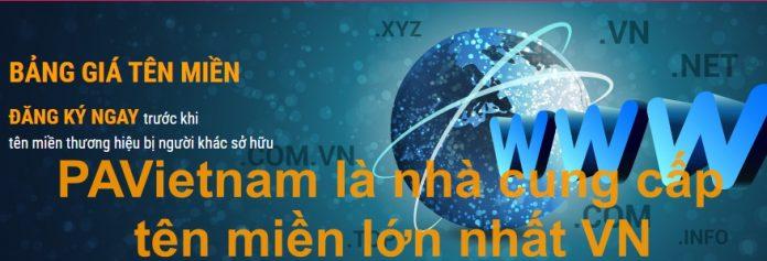 PAVietnam là nhà cung cấp tên miền lớn nhất VN