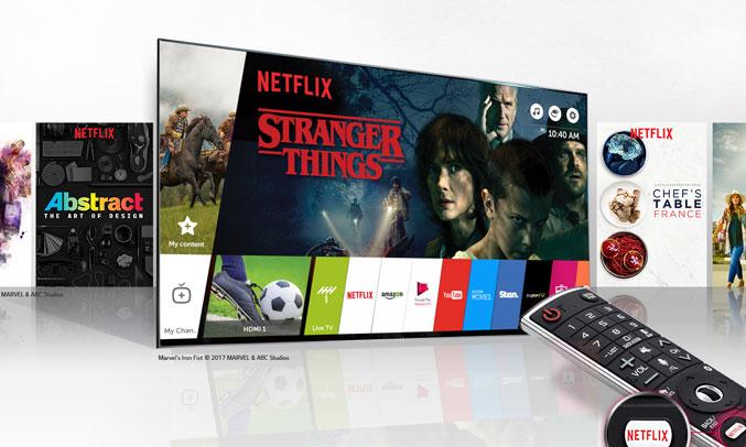 Tivi LG có khả năng hổ trợ giọng nói khá tốt như tivi Sony