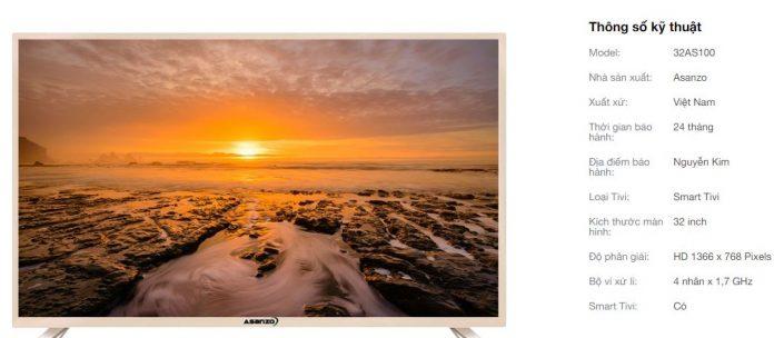 Smart tivi giá rẻ nhất thị trường