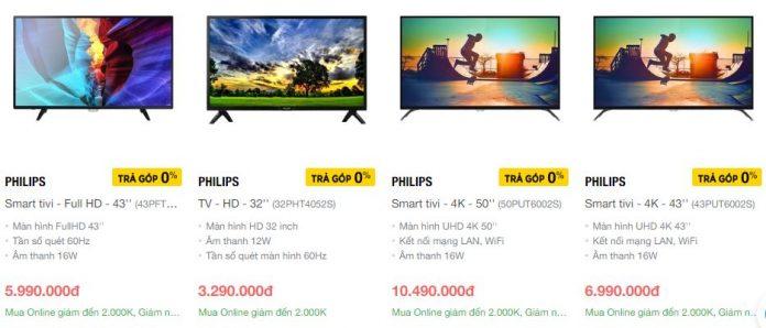 Hãng tivi Philips từ Hà Lan với giá thành rẻ và phục vụ cho đối tượng khách hàng bình dân