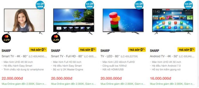 Smart tivi Sharp với giá thành rẻ dễ dàng cho bạn tận hưởng công nghệ 4k và hệ điều hành thông minh Android
