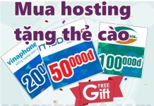 Mua hosting tặng thẻ cào miễn phí 2019