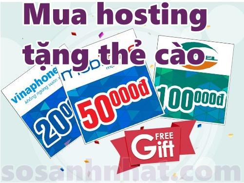 Mua hosting tặng thẻ cào miễn phí 2019