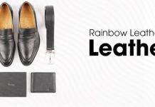 bộ quà tặng da cao cấp Rainbow cho nam